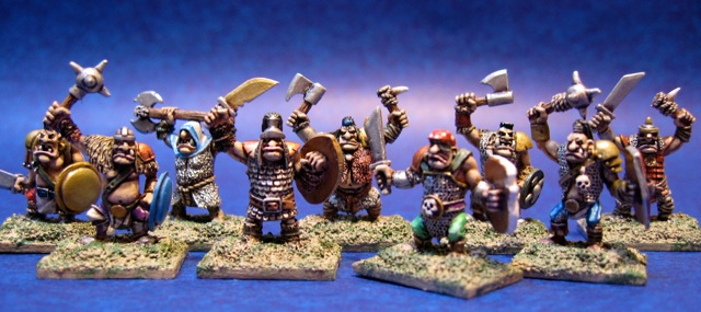 "10mm Warmaster Ogres - make great 15mm ""Uglies"""