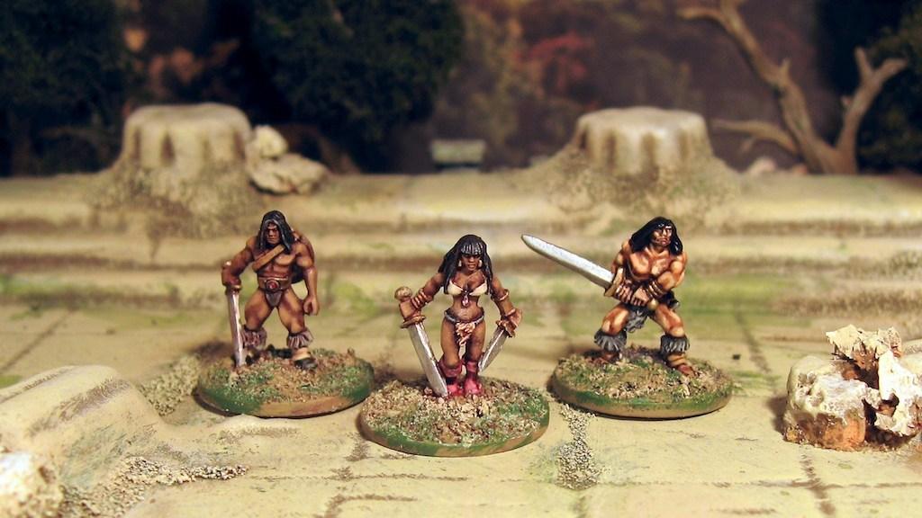 Copplestone 15mm Barbarians. Conan!