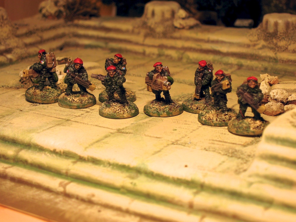 The Red Berets from Micropanzer - 15mm sci fi