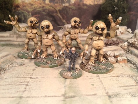 CP Models Big Eyed Aliens Doctor Who 28mm