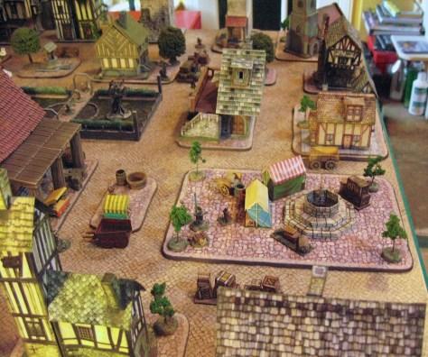 Graffam paper model fantasy town 15mm