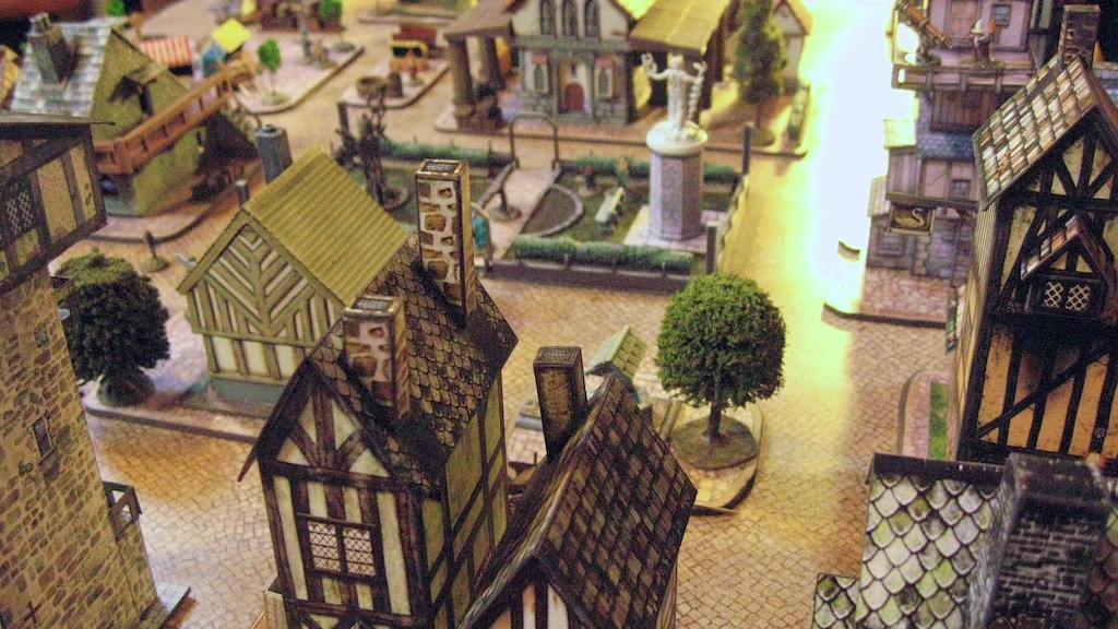 Graffam paper model fantasy town 15mm