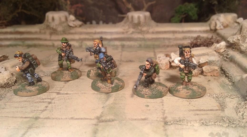 Oddział Ósmy Oddzial Osmy 15mm insurgents sci fi modern skirmish special forces 18mm
