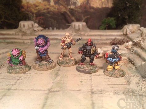 15mm.co.uk SHM range 15mm sci fi characters for skirmish games