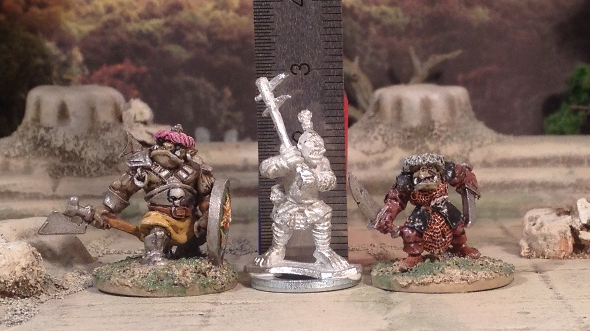 Scale Comparison: 10mm Ogres from Black Gate as 15mm Brutes