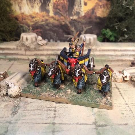 15mm Fastus Furius Fantasy chariots demonworld Ral Partha Alternative Armies