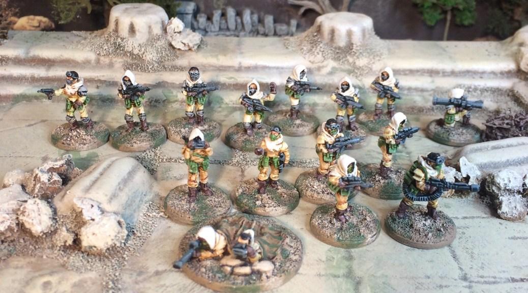 Rebel Minis Sahadeen 15mm Sci-fi post apocalypse desert fighters