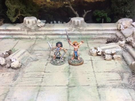 15mm Demonworld Ral Partha Europe RPE Barbarians Thain Dragon Rampant