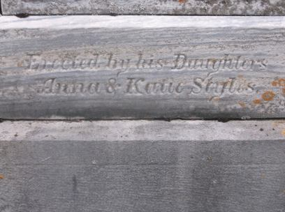 Erected by his daughters Anna & Katie Styles, photo courtesy R Staehr