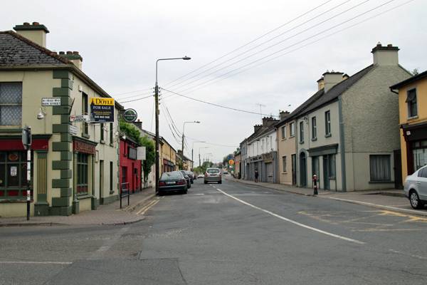 Edward Street, Baltinglass, looking from the intersection with Main Street, © Angelina C Ward 2016