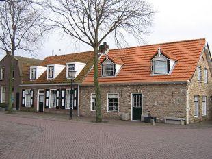 Houses in the village of Aagtekerke, Veere, Zeeland, The Netherlands