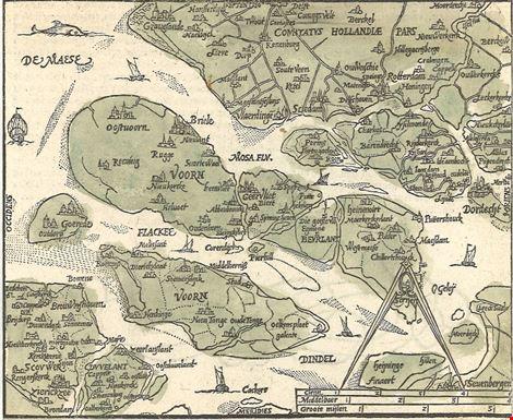 South Holland Islands, Zacharias Heynes, Duvelandia et Vornia, 1598, Regional Archief Goeree-Overflakkee