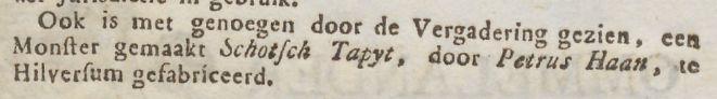 """""""Bekendmaaking"""" [Petrus Haan], Ommelander courant, Hoogkerk, 23-08-1793,"""