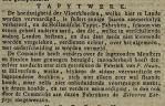 """Tapytwerk"" [Petrus Haan], Leydse courant, Leyden, 20-07-1808"