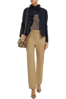 Valentino wool-silk blend straight pants $154 Outnet