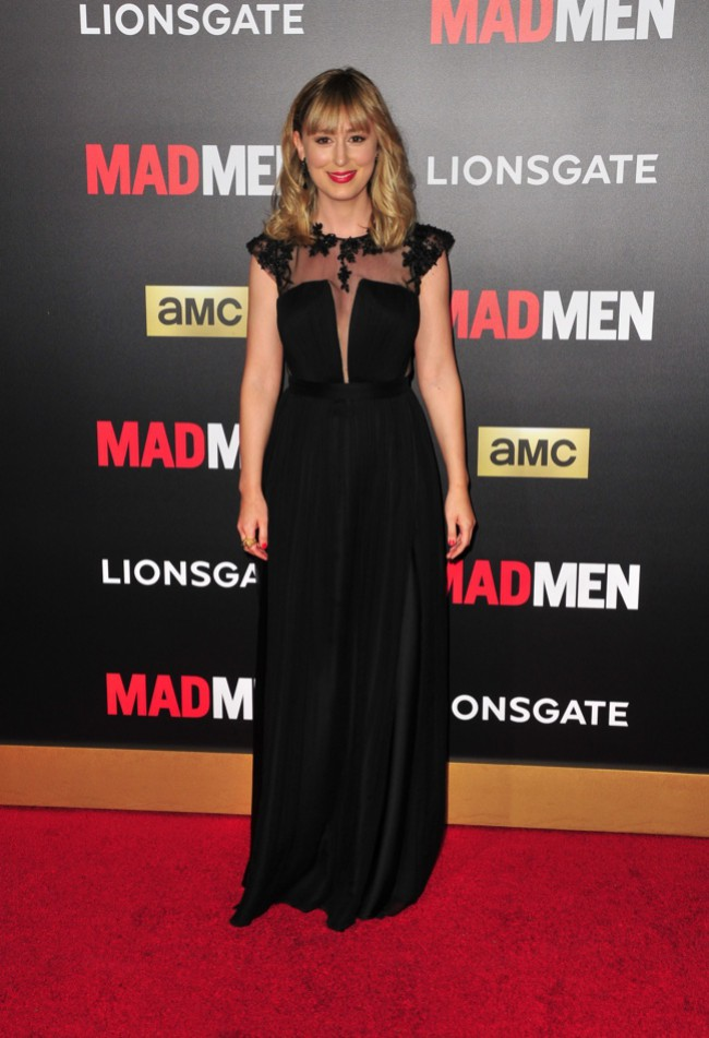 WTFSG_stephanie-drake-black-gown-sheer-panel
