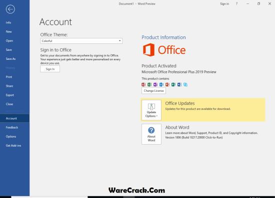 Microsoft Office 2019 Serial Key