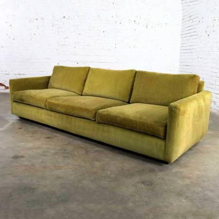 Lawson Style Wide Wale Corduroy Sofa by Milo Baughman for Thayer Coggin