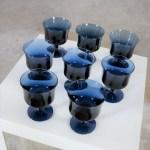 Sapphire Blue Mid Century Modern Champagne Coupe Sherbet Dessert Or Stemmed Cocktail Glasses Warehouse 414
