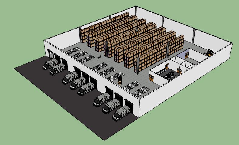 3d warehouse layout visualization