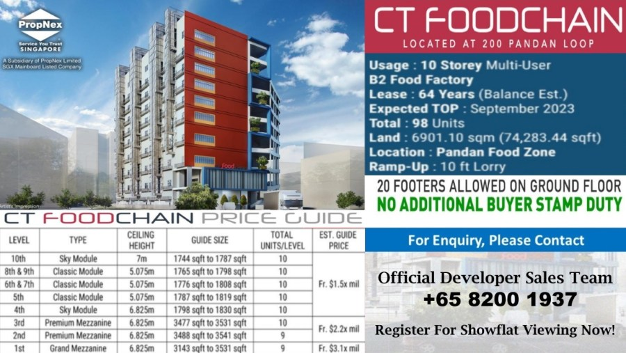 Food Factory For Sale in Pandan Food Zone