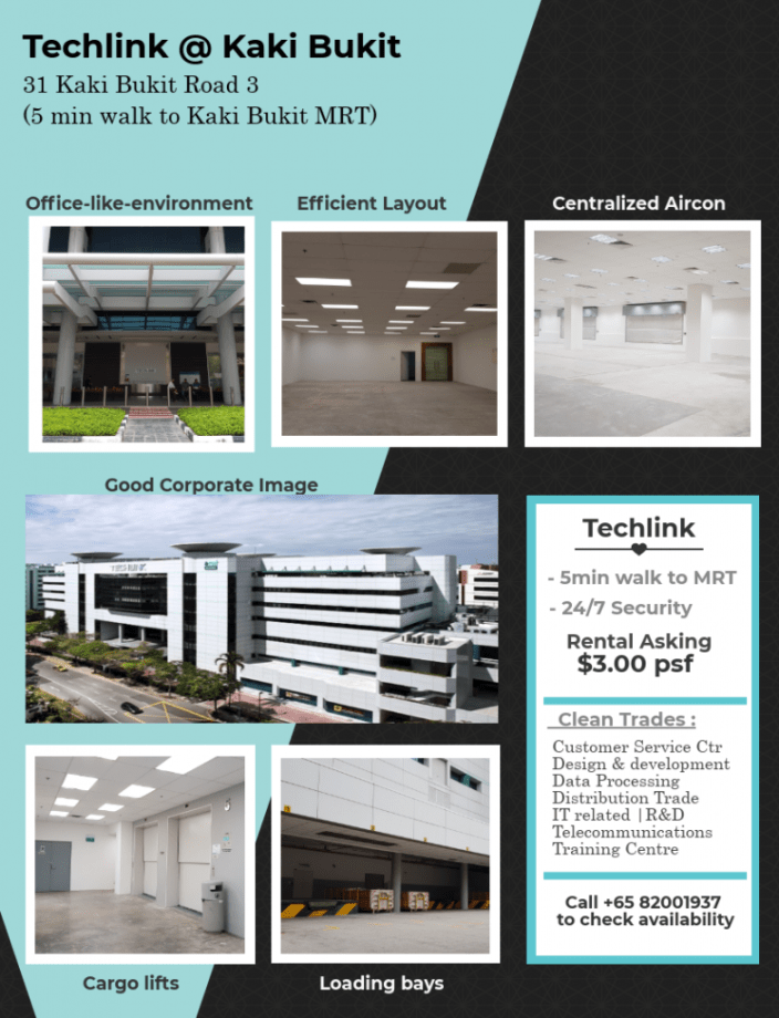 Office for rent at Techlink Kaki Bukit