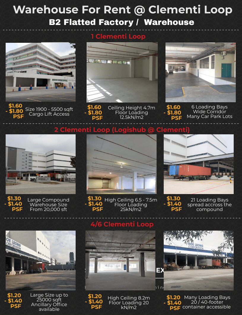 Large Logistic Warehouse For Rent at Clementi