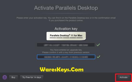 activation key parallels desktop 15 for mac