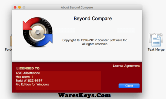 Beyond Compare Key