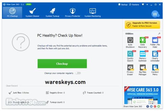 Wise Registry Cleaner Pro License Key