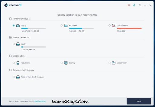 Wondershare Recoverit 10.0.2.7 Crack