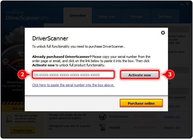 driver scanner 2013 serial key number