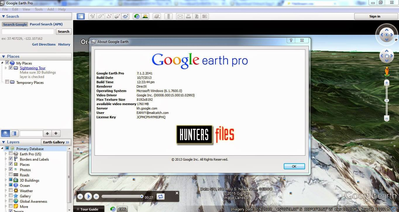 google earth pro 7.1 license key