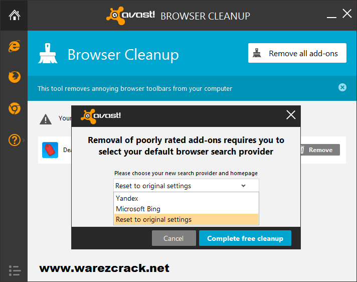 avast cleanup tool download