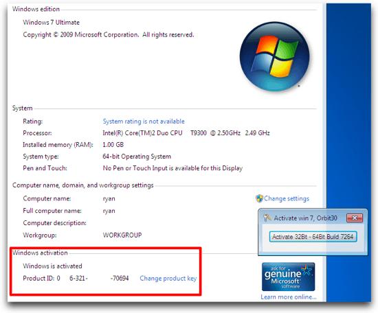 Free Download Genuine Windows 7 Ultimate Activation Crack - hotsoft