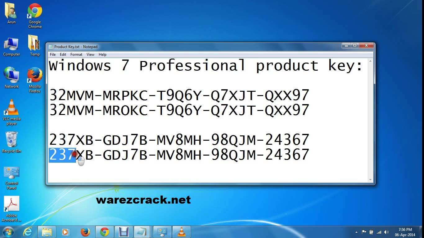 acer windows 7 professional product key