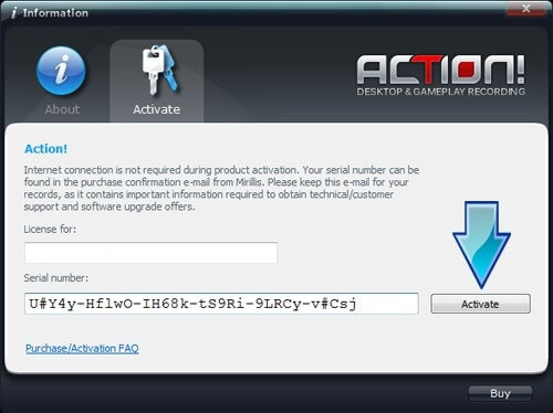 Action Mirillis 2.3.0 Serial Number