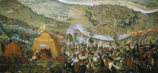 During the 1683 Battle of Vienna, relief came out of the woods and down from the heights...