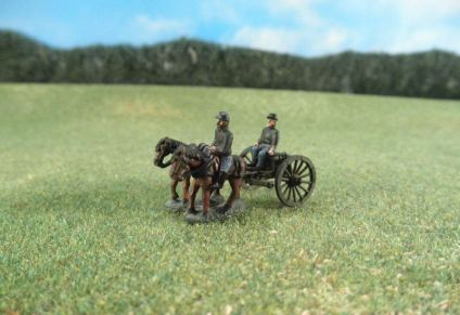15mm ACW Artillery: ACW120 Artillery Limbers with Walking Horses & Crew