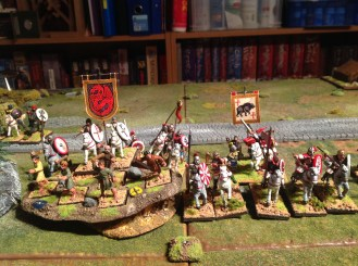 Artorius beneath the bear banner with his cavalry.