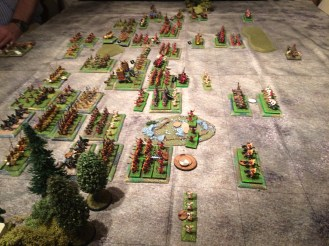 The Roman infantry near the woods prove hard to defeat but even harder to rally!