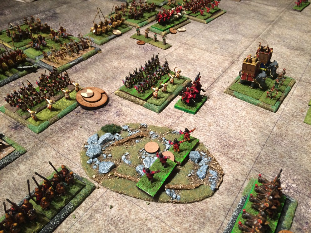 The slingers still hold the rough ground. Too much happening around them!