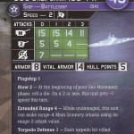 War at Sea Task Force USS California Stat Card