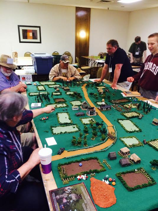 A historical miniatures game played at HuzzahCon 2015 in Portland, Maine.