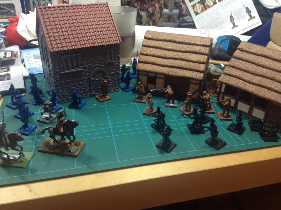 Jamie from Norway's work in progress for Muskets & Tomahawks.