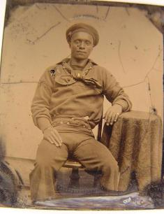 African American sailor.