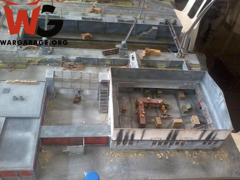 Escenario de Miniaturas Estadio Wargames para jugar Bolt Action