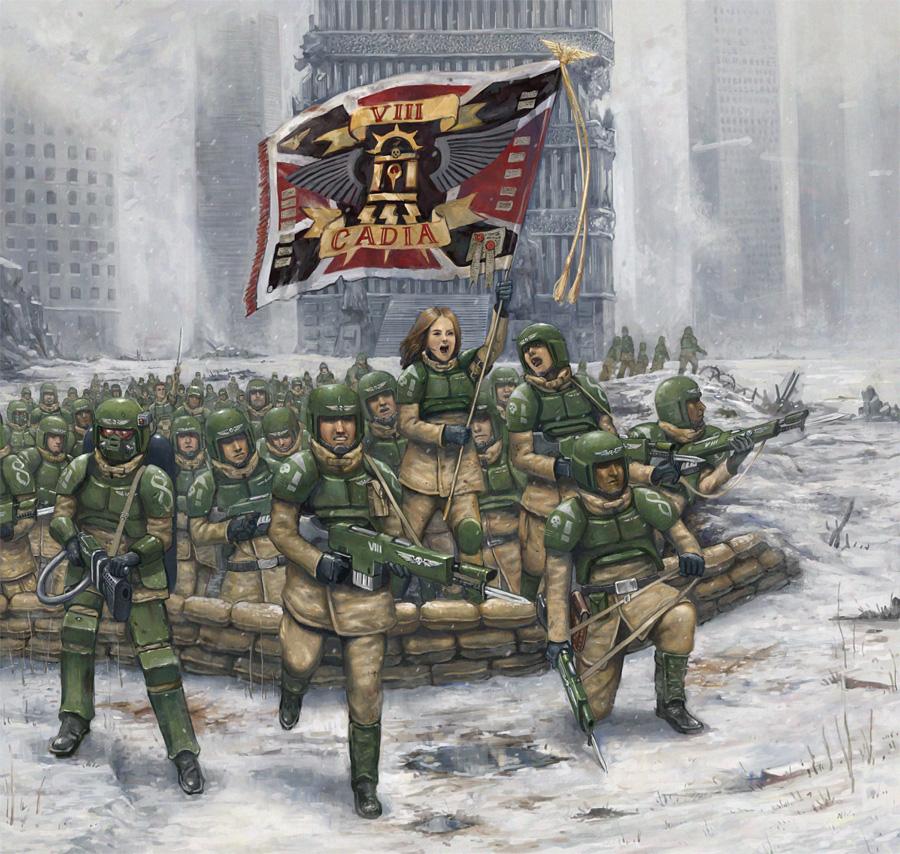 Carga del Octavo Regimiento de Cadia por Lathander1987