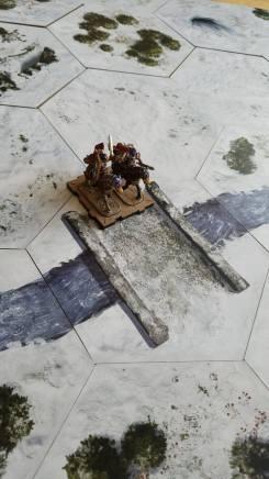 Tundra nevada de TerraTiles con minis de Runewars
