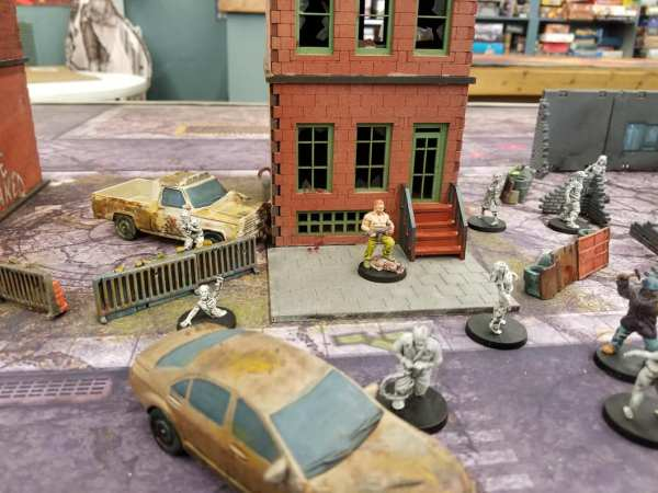 Mesa del juego de miniaturas The Walking Dead